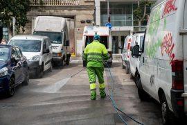 Treballador servei neteja
