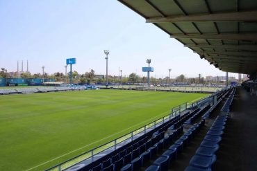 La actual ciudad deportiva del RCD Espanyol en Sant Adrià del Besòs