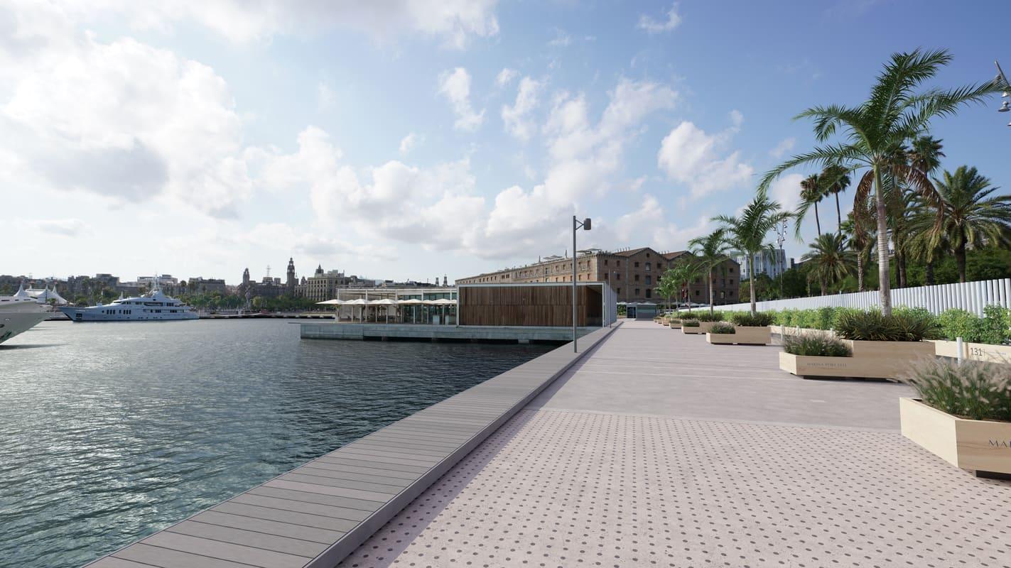 Recreación de cómo quedará Marina Port Vell tras la remodelación.