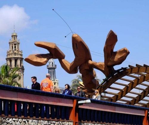 La gamba de Mariscal, icono del Moll de la Fusta.