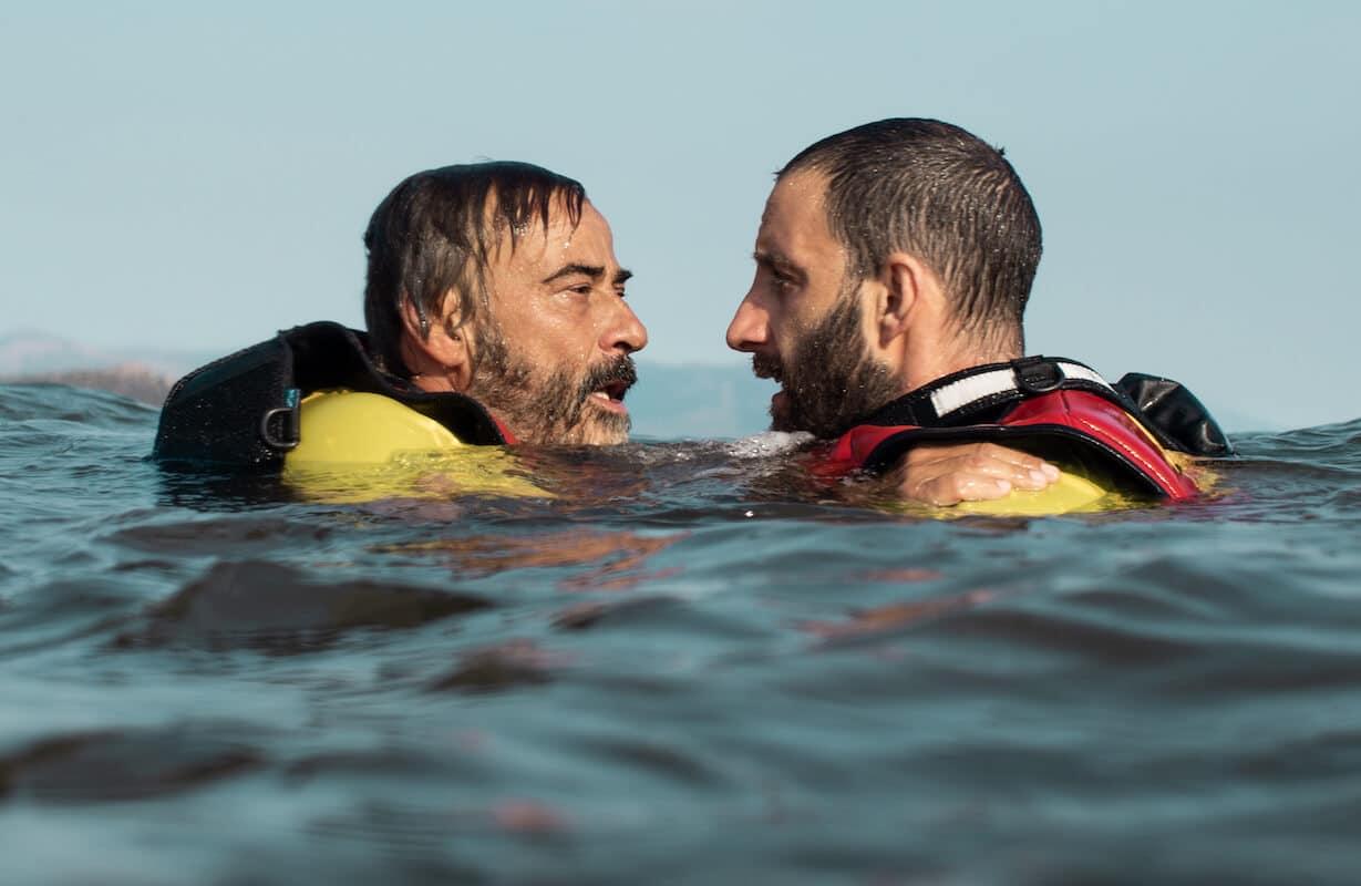 Los actores Eduard Fernández y Dani Rovira en escena. © Lucia Faraig