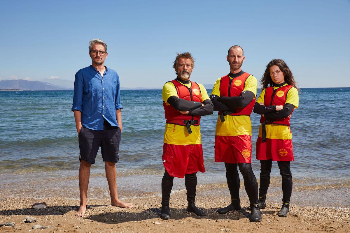 Marcel Barrena, Eduard Fernández, Dani Rovira y Anna Castillo. El director y los protagonistas principales de <i>Mediterráneo</i>.