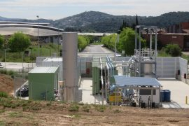 Planta de gases renovables de Naturgy en Cerdanyola del Vallès.